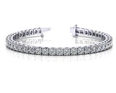 14KT White Gold 1 1/4 ct I-J SI3/I1 4 Prong Tennis Bracelets